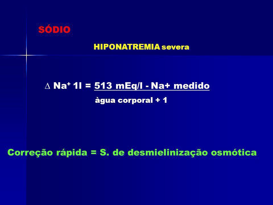 ∆ Na+ 1l = 513 mEq/l - Na+ medido