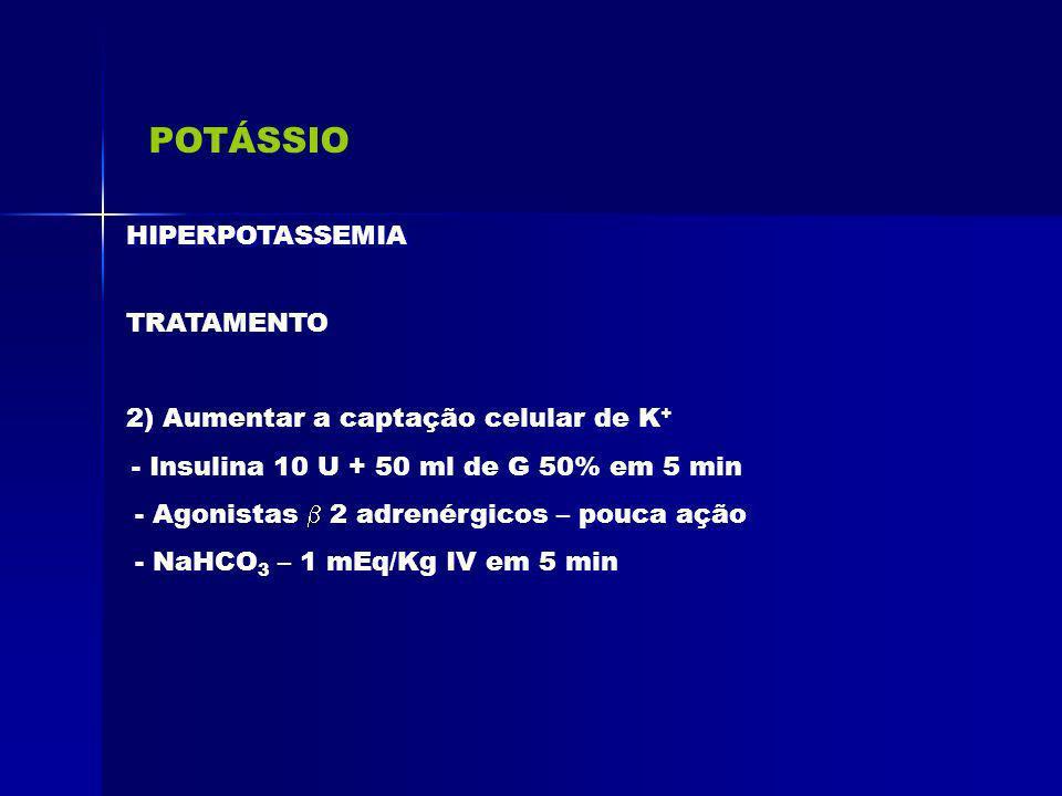 POTÁSSIO HIPERPOTASSEMIA TRATAMENTO
