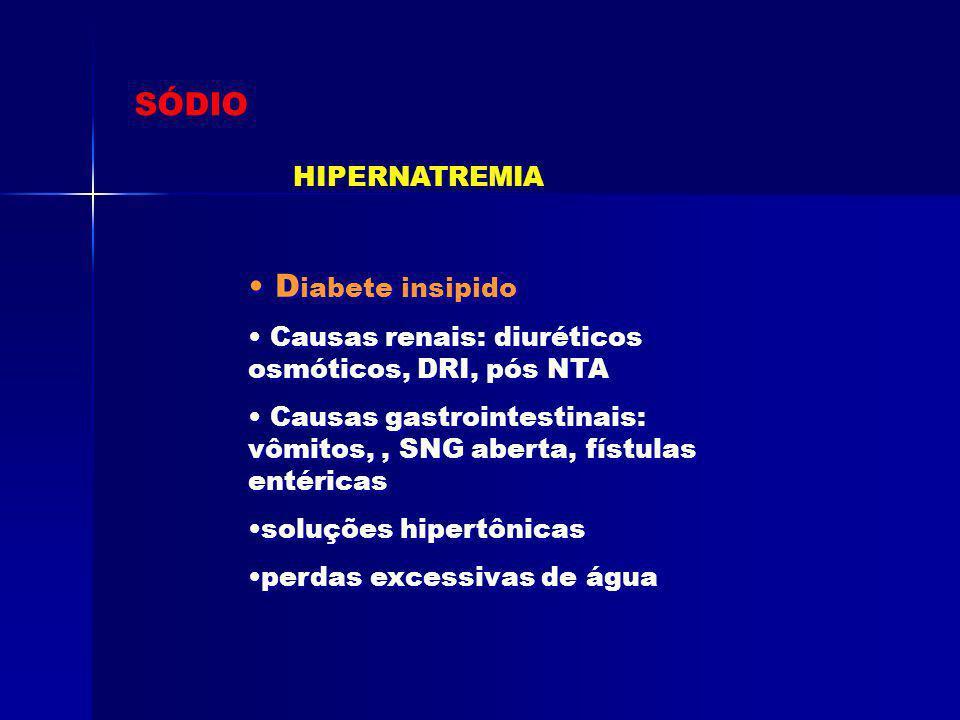 SÓDIO Diabete insipido HIPERNATREMIA