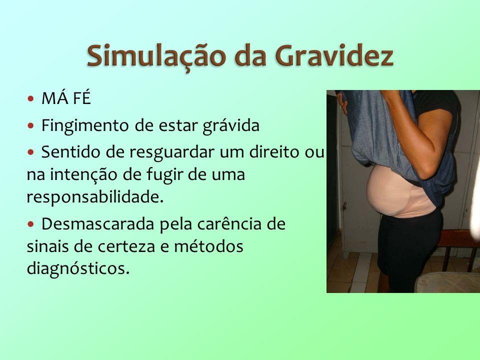 Simulação da Gravidez MÁ FÉ Fingimento de estar grávida