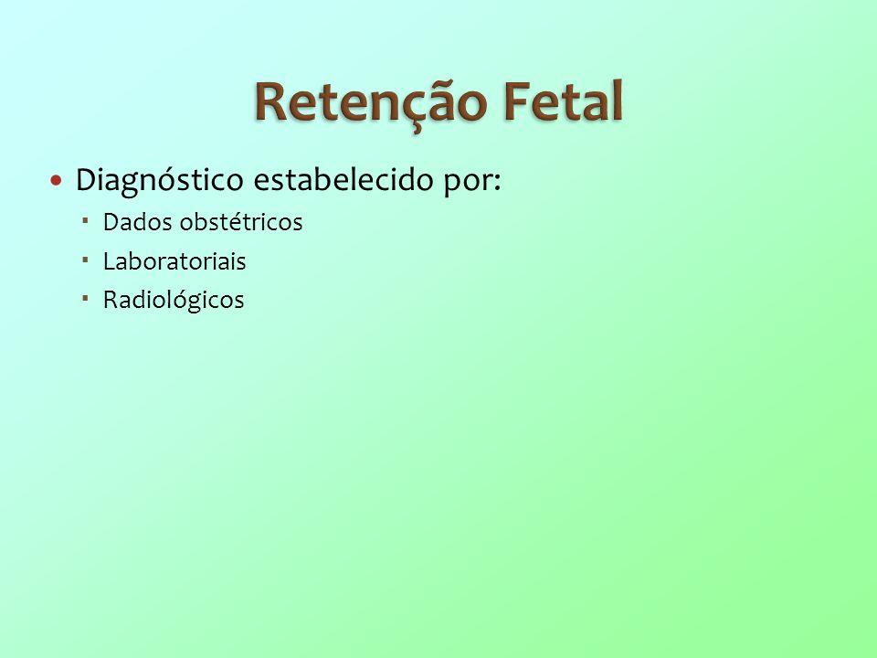 Retenção Fetal Diagnóstico estabelecido por: Dados obstétricos