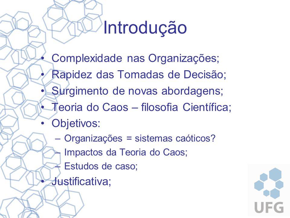 Introdução Complexidade nas Organizações;