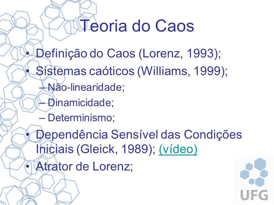 Teoria do Caos Definição do Caos (Lorenz, 1993);