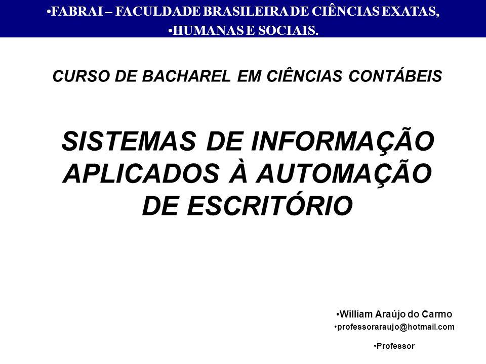 FABRAI – FACULDADE BRASILEIRA DE CIÊNCIAS EXATAS,