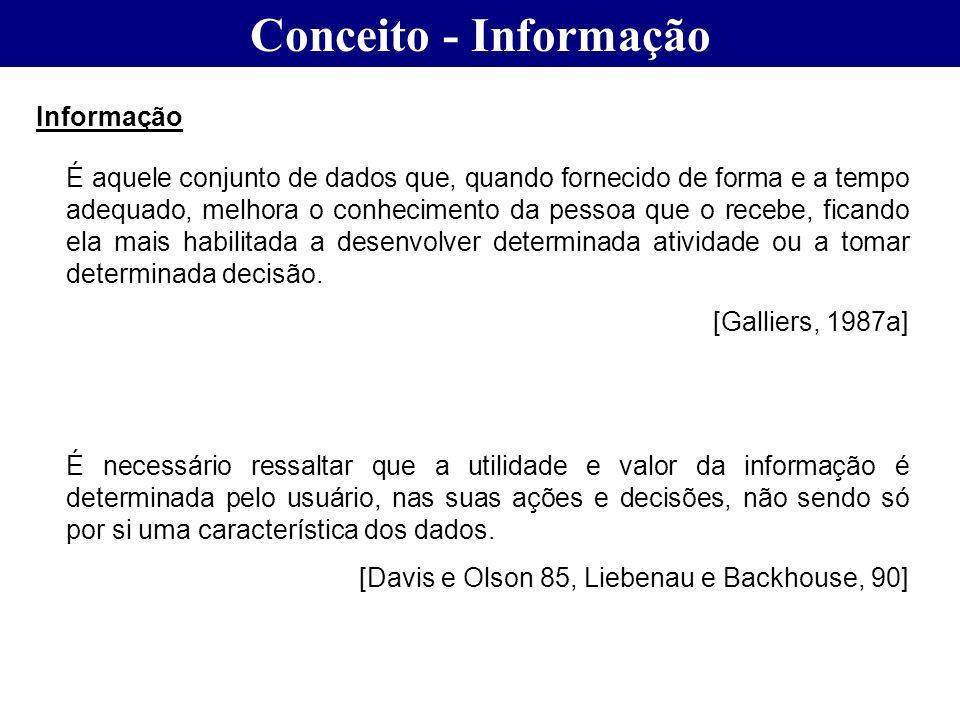 Conceito - Informação Informação