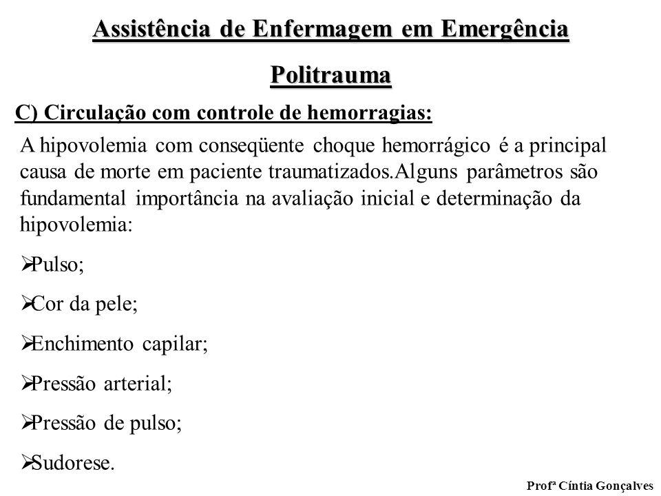 C) Circulação com controle de hemorragias: