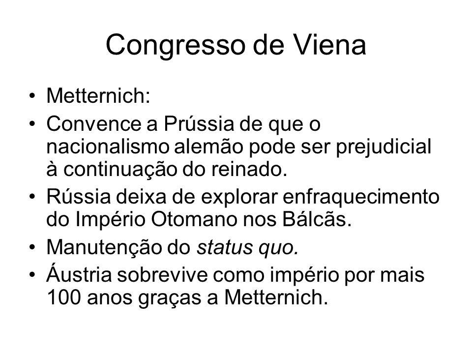 Congresso de Viena Metternich: