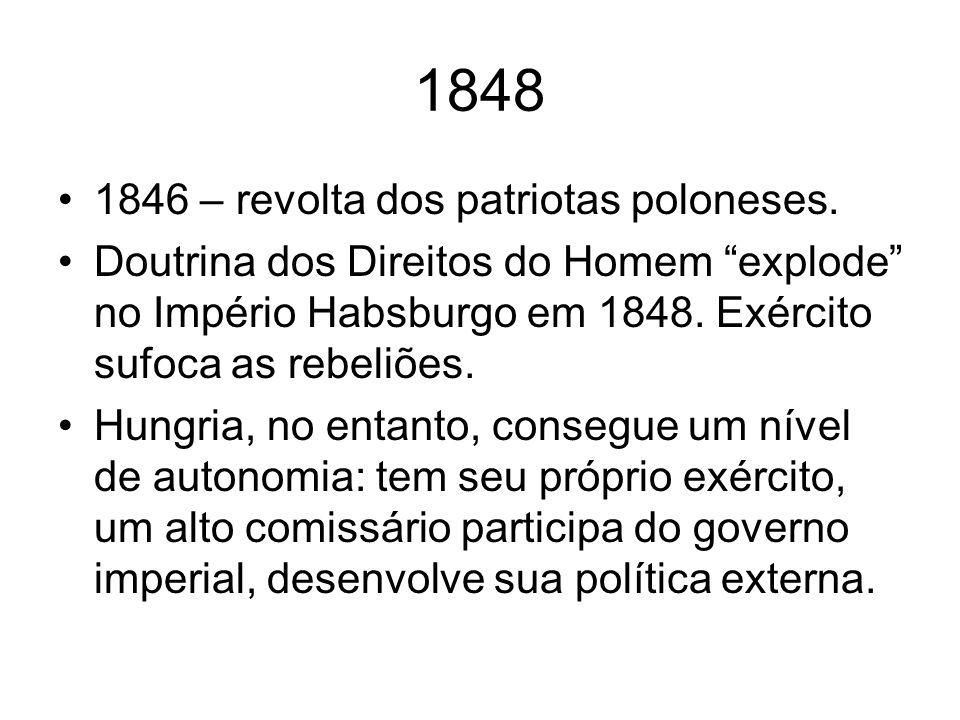 1848 1846 – revolta dos patriotas poloneses.