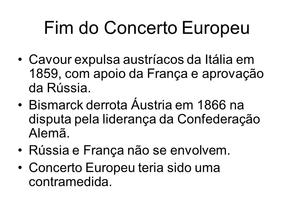 Fim do Concerto Europeu
