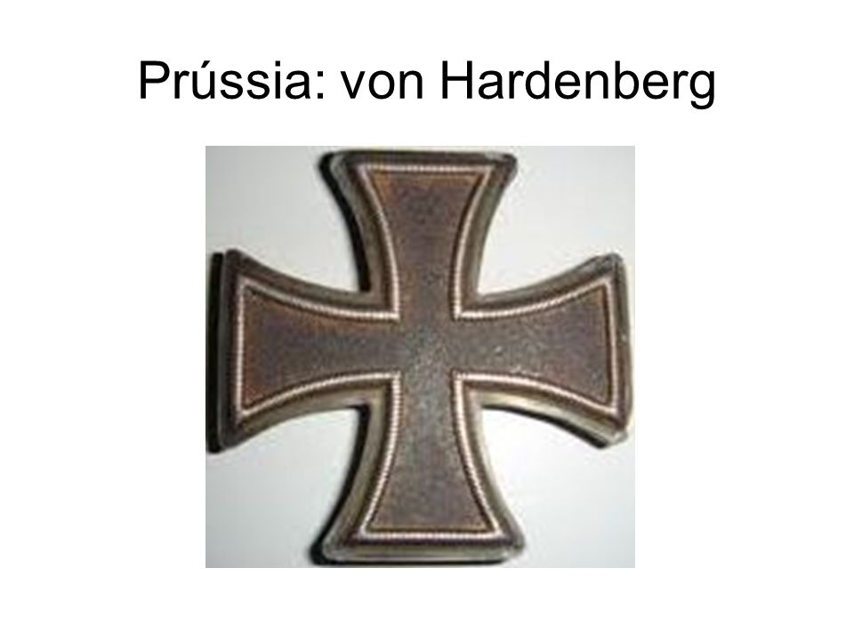 Prússia: von Hardenberg