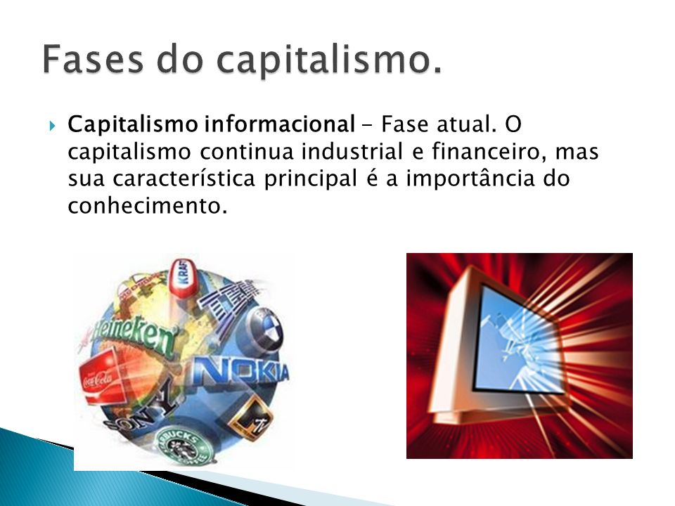 Fases do capitalismo.