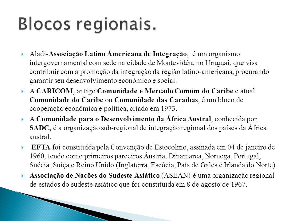 Blocos regionais.