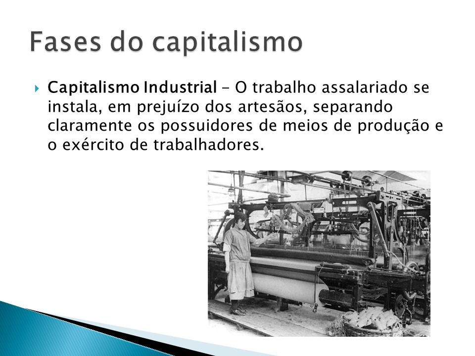 Fases do capitalismo