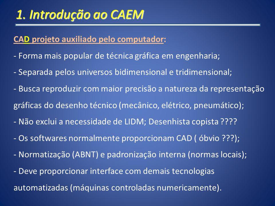 1. Introdução ao CAEM CAD projeto auxiliado pelo computador: