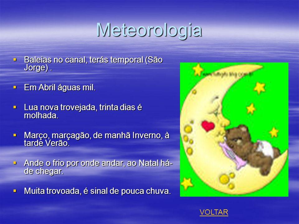 Meteorologia Baleias no canal, terás temporal (São Jorge) .