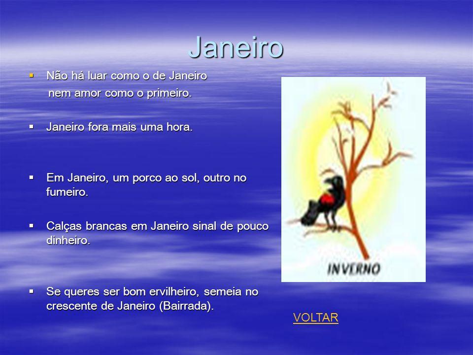 Janeiro Não há luar como o de Janeiro nem amor como o primeiro.