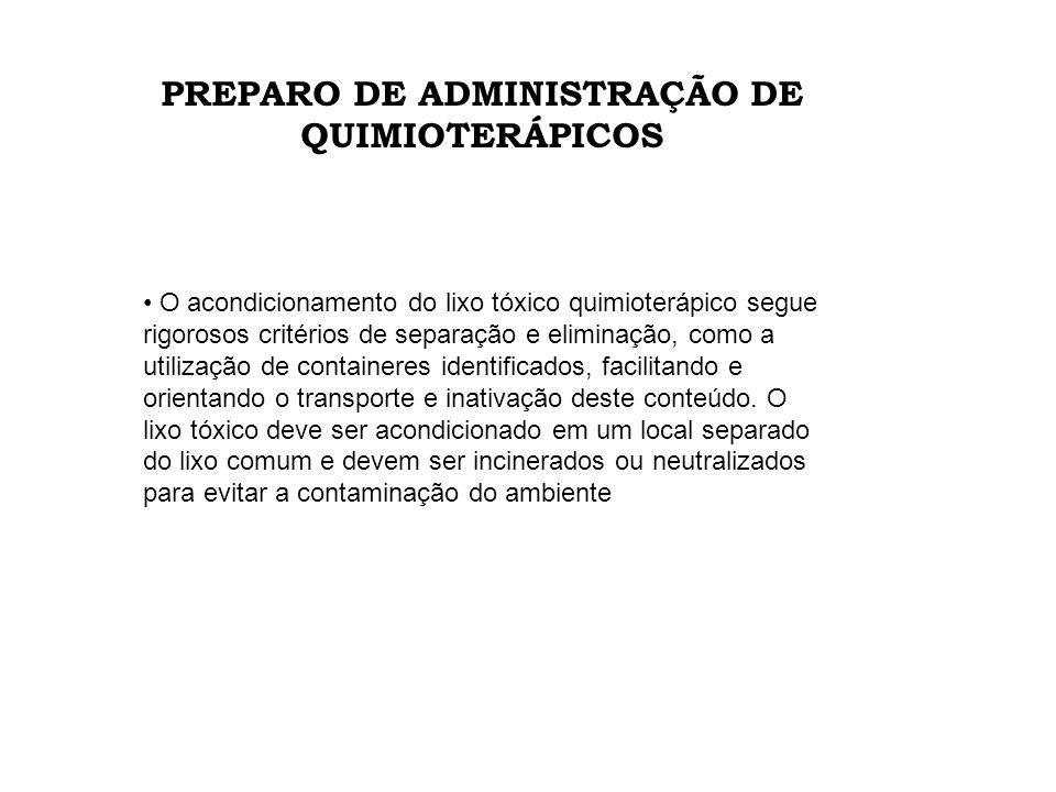 PREPARO DE ADMINISTRAÇÃO DE QUIMIOTERÁPICOS