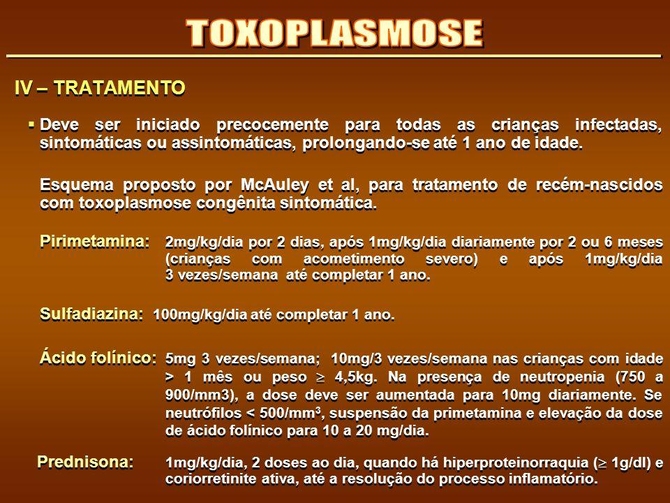 TOXOPLASMOSE IV – TRATAMENTO