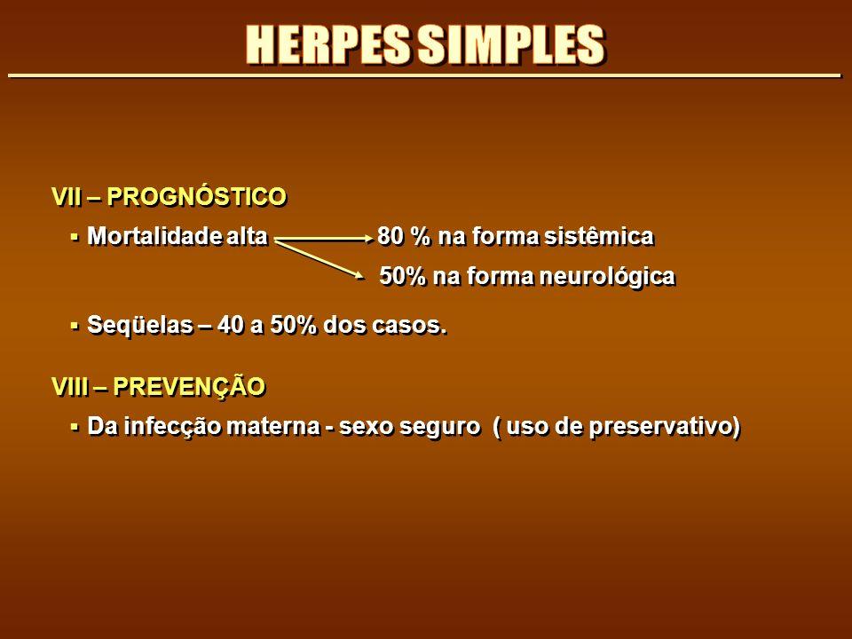 HERPES SIMPLES VII – PROGNÓSTICO