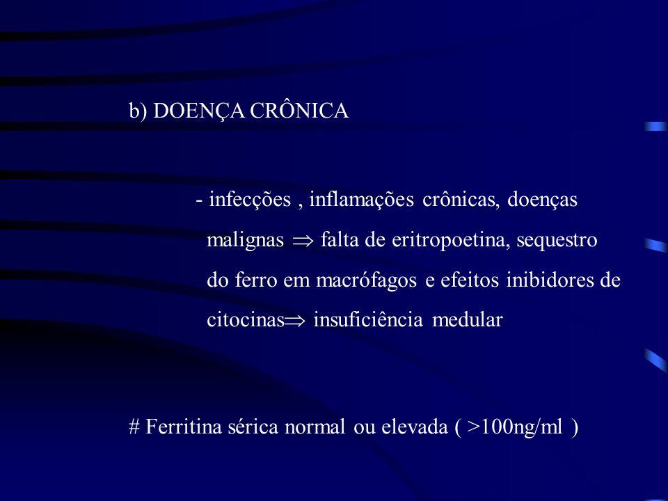 b) DOENÇA CRÔNICA