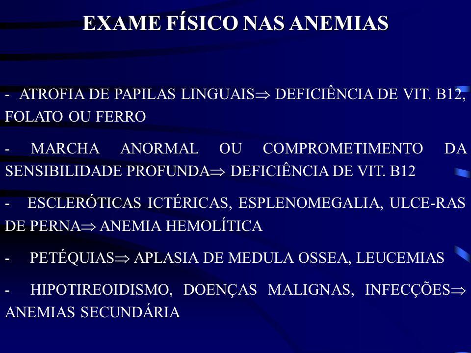 EXAME FÍSICO NAS ANEMIAS