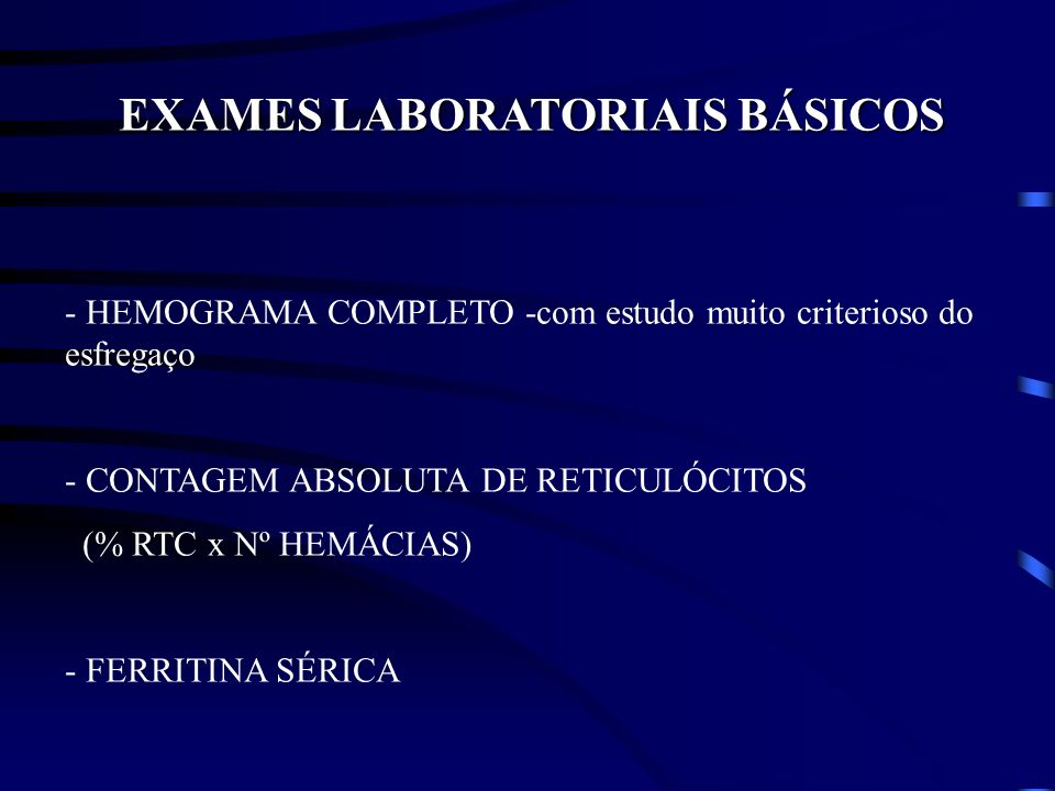 EXAMES LABORATORIAIS BÁSICOS