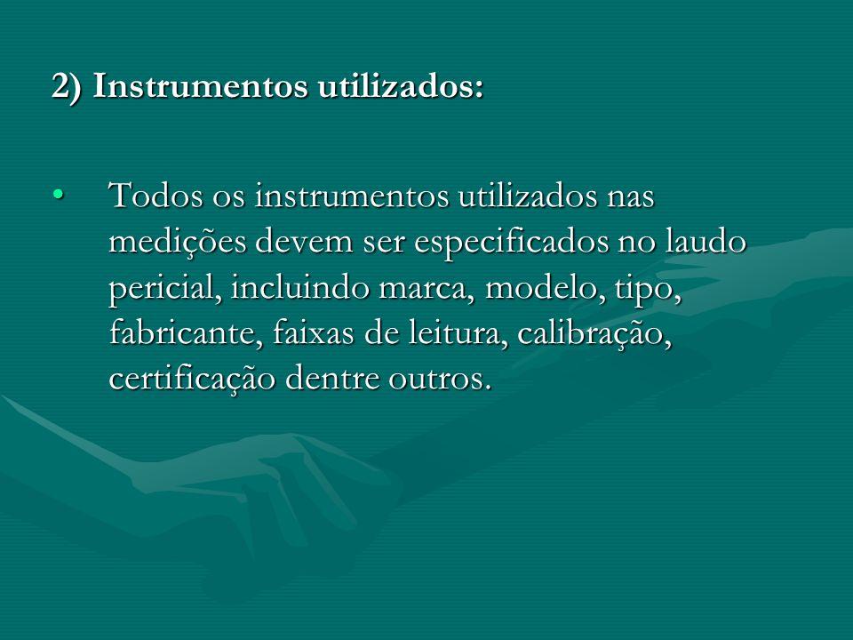 2) Instrumentos utilizados: