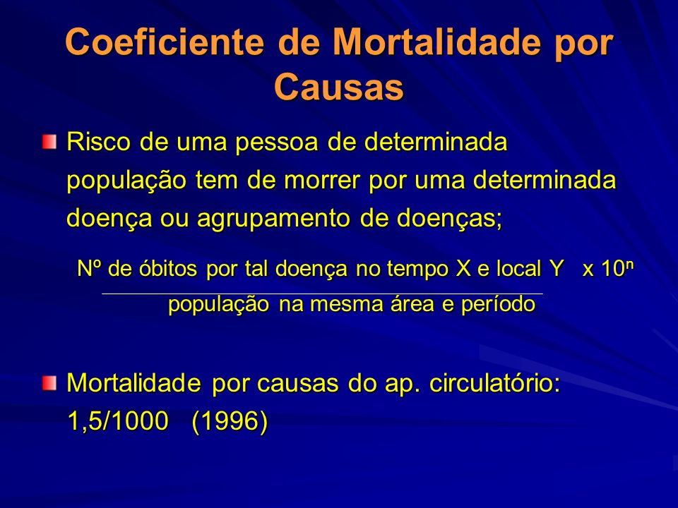 Coeficiente de Mortalidade por Causas