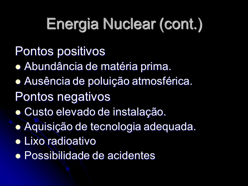 Energia Nuclear (cont.)
