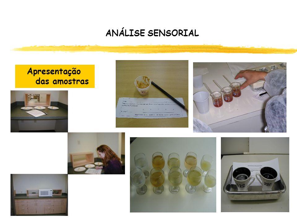 ANÁLISE SENSORIAL Apresentação das amostras