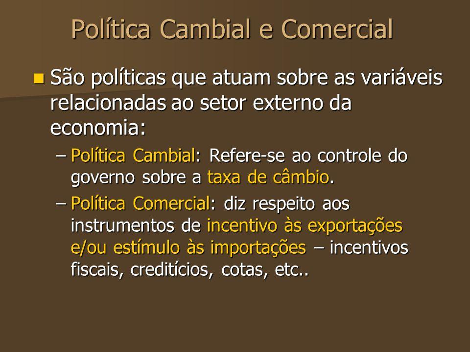 Política Cambial e Comercial