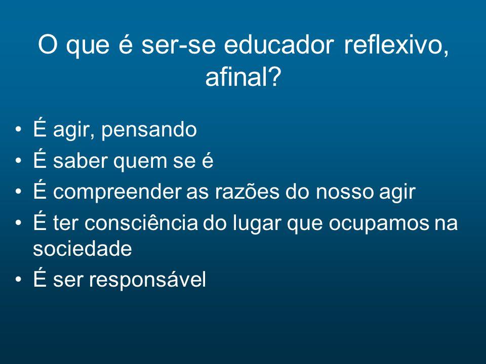 O que é ser-se educador reflexivo, afinal