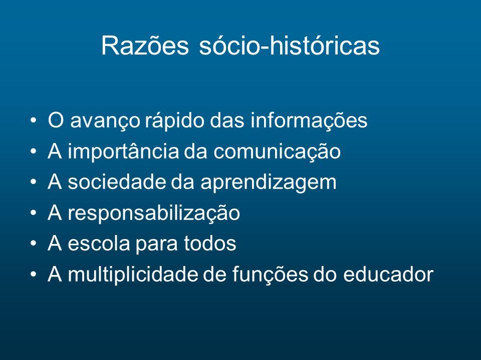 Razões sócio-históricas