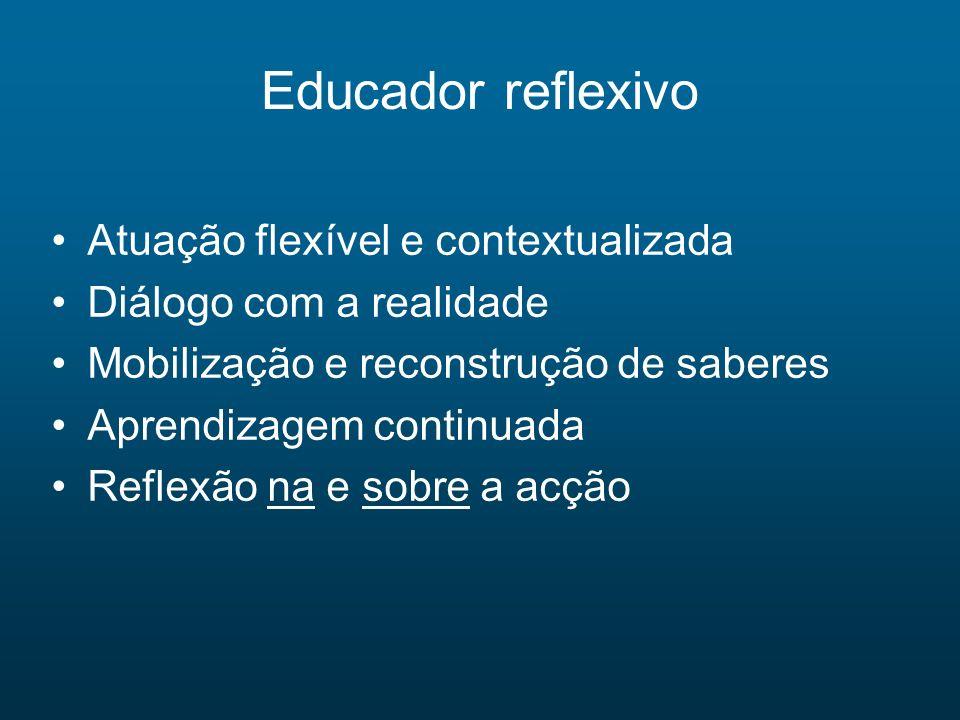 Educador reflexivo Atuação flexível e contextualizada