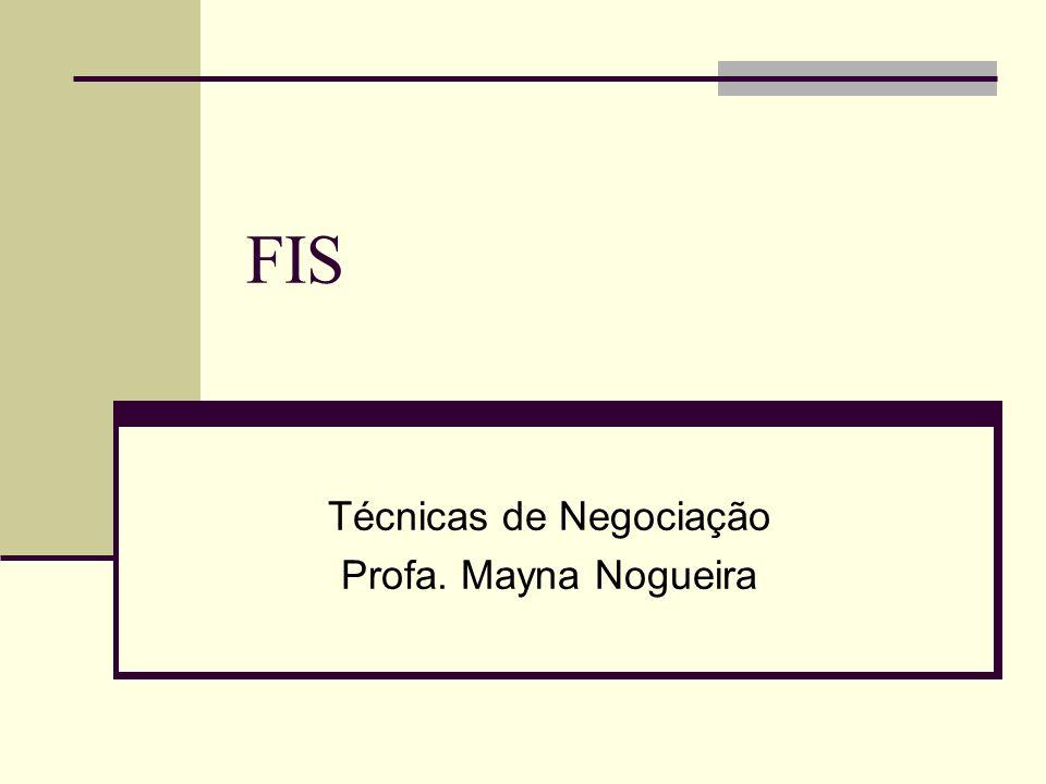 Técnicas de Negociação Profa. Mayna Nogueira