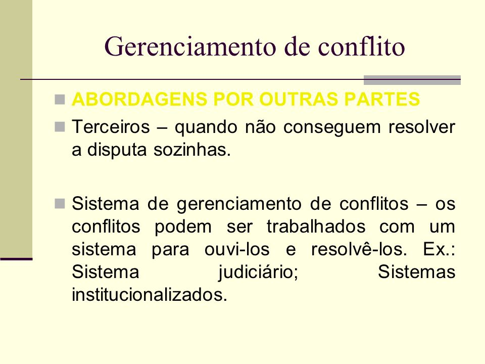 Gerenciamento de conflito