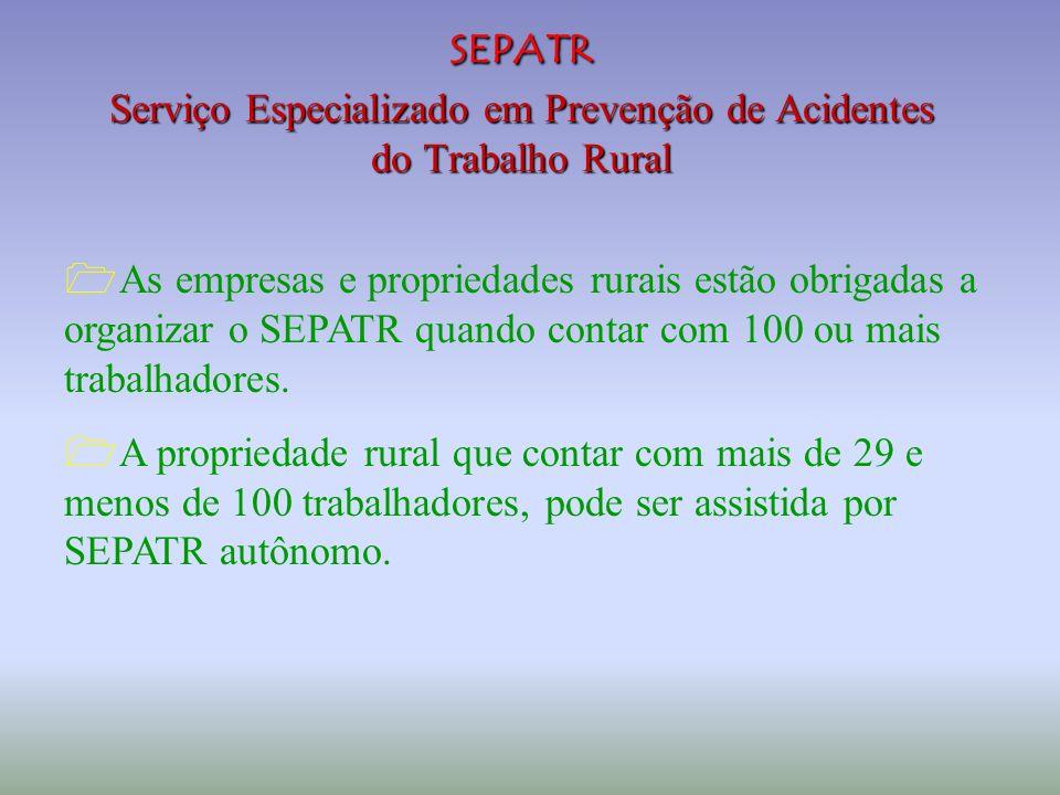 SEPATR Serviço Especializado em Prevenção de Acidentes do Trabalho Rural