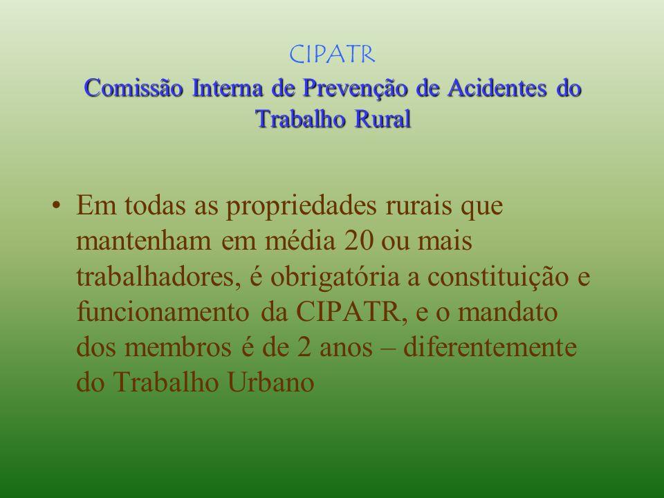 CIPATR Comissão Interna de Prevenção de Acidentes do Trabalho Rural