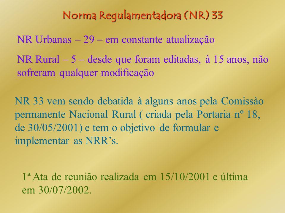 Norma Regulamentadora (NR) 33
