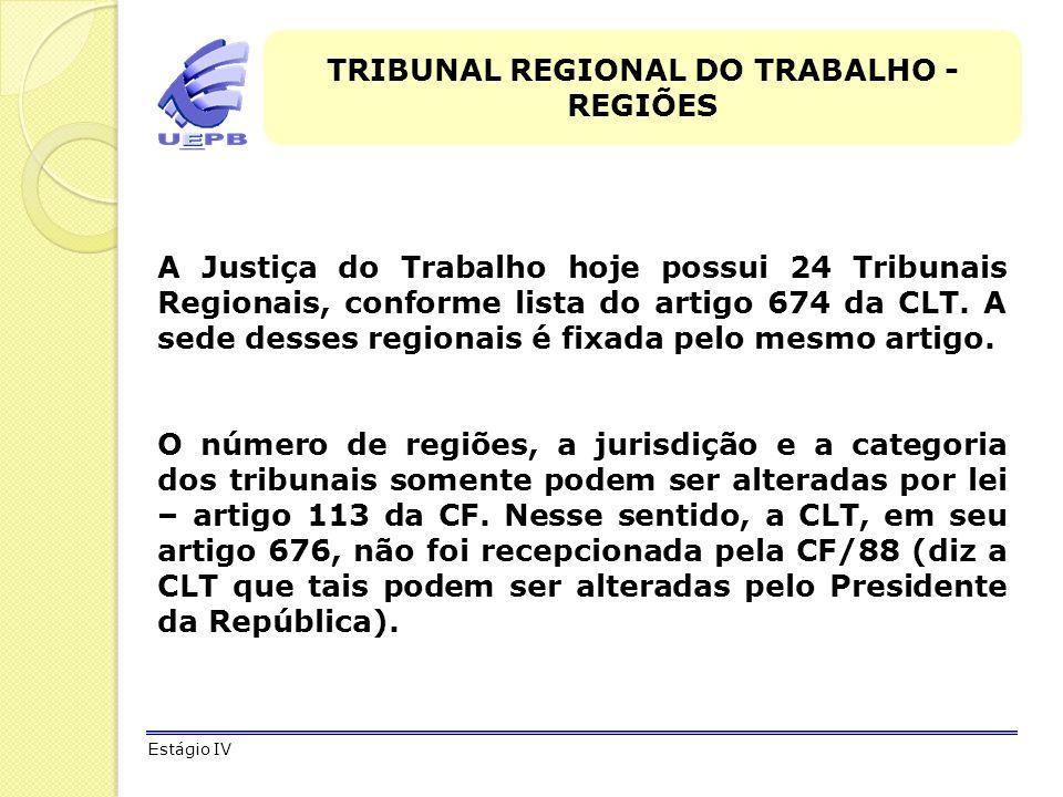TRIBUNAL REGIONAL DO TRABALHO - REGIÕES