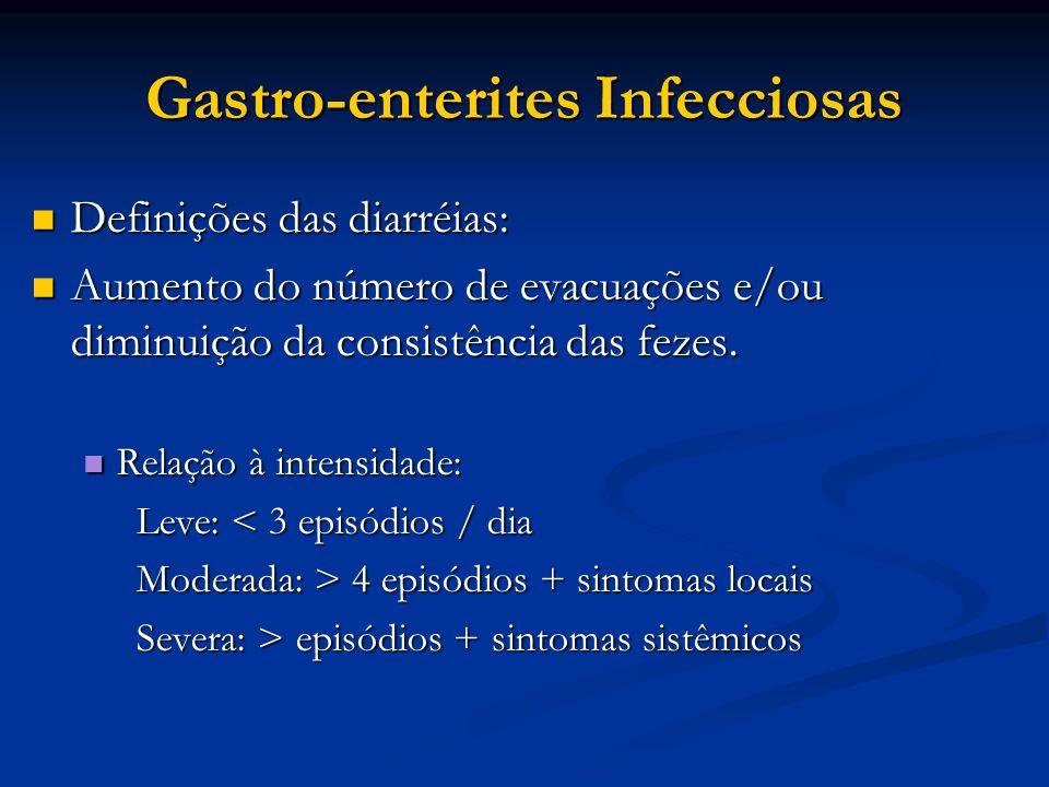Gastro-enterites Infecciosas