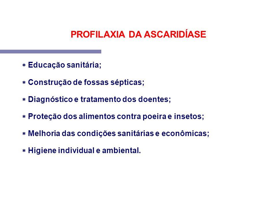 PROFILAXIA DA ASCARIDÍASE