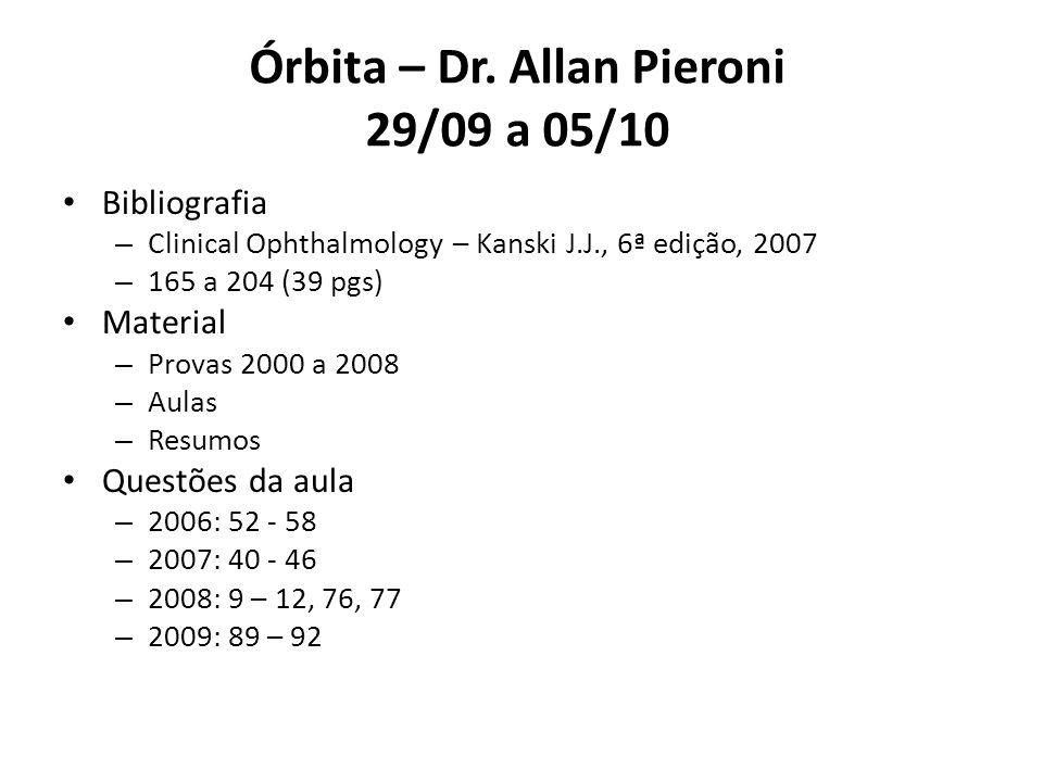 Órbita – Dr. Allan Pieroni 29/09 a 05/10
