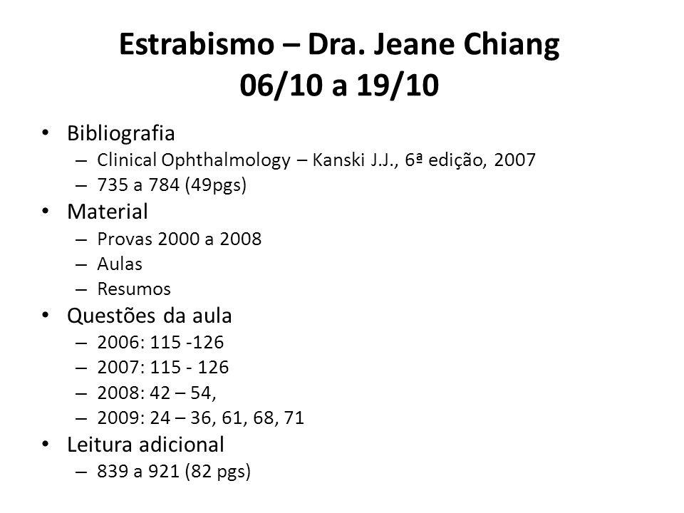 Estrabismo – Dra. Jeane Chiang 06/10 a 19/10