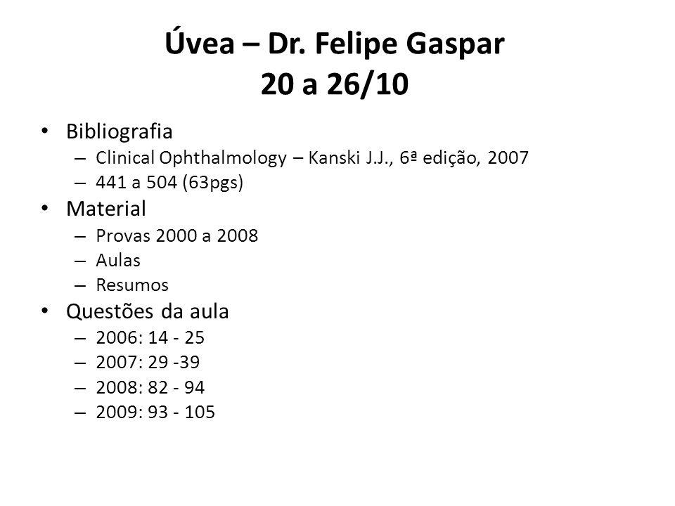 Úvea – Dr. Felipe Gaspar 20 a 26/10