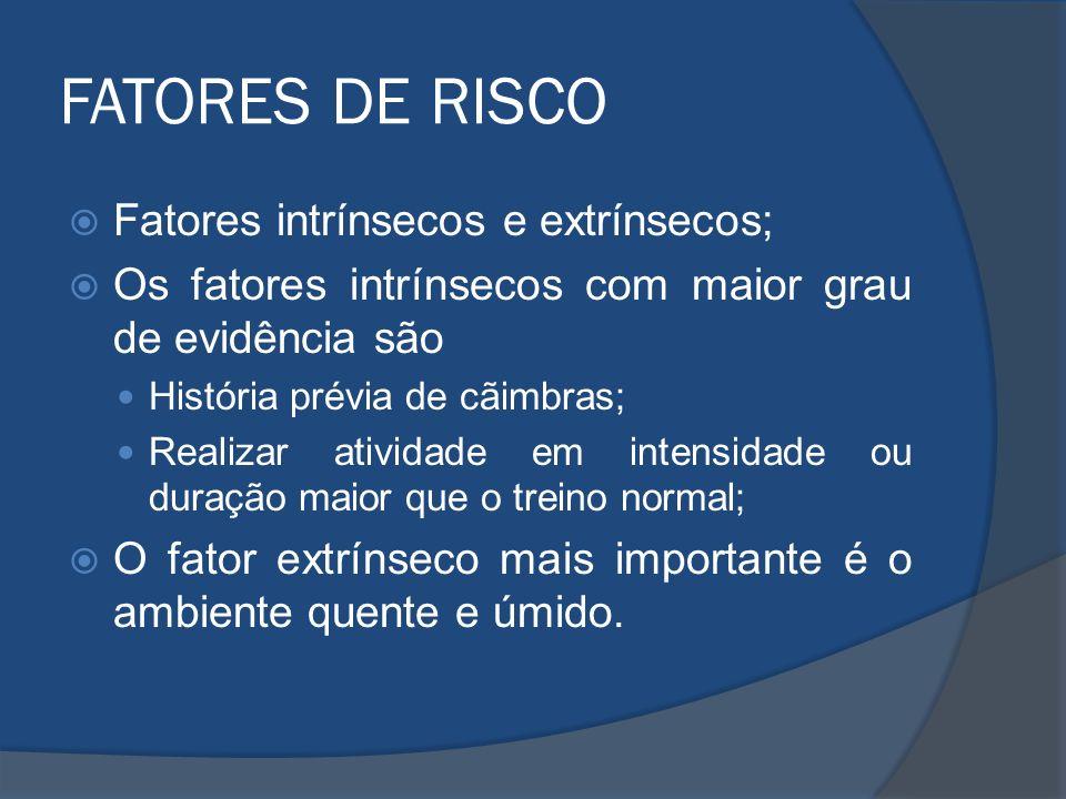 FATORES DE RISCO Fatores intrínsecos e extrínsecos;