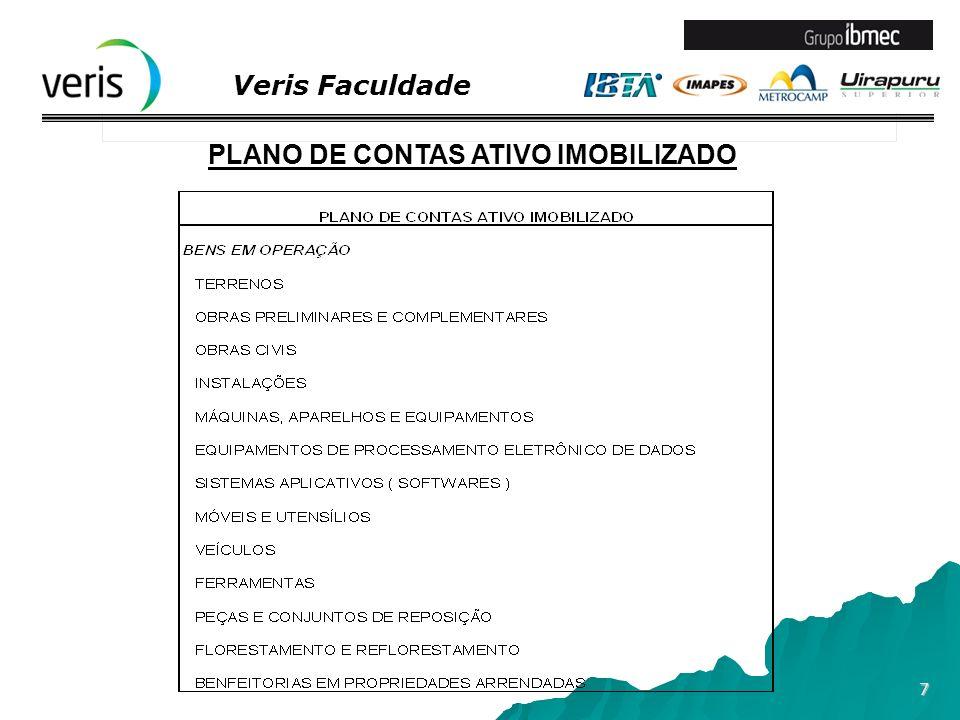 PLANO DE CONTAS ATIVO IMOBILIZADO
