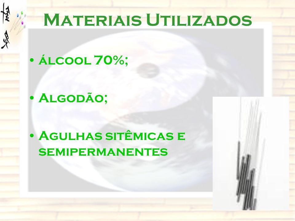 Materiais Utilizados álcool 70%; Algodão;