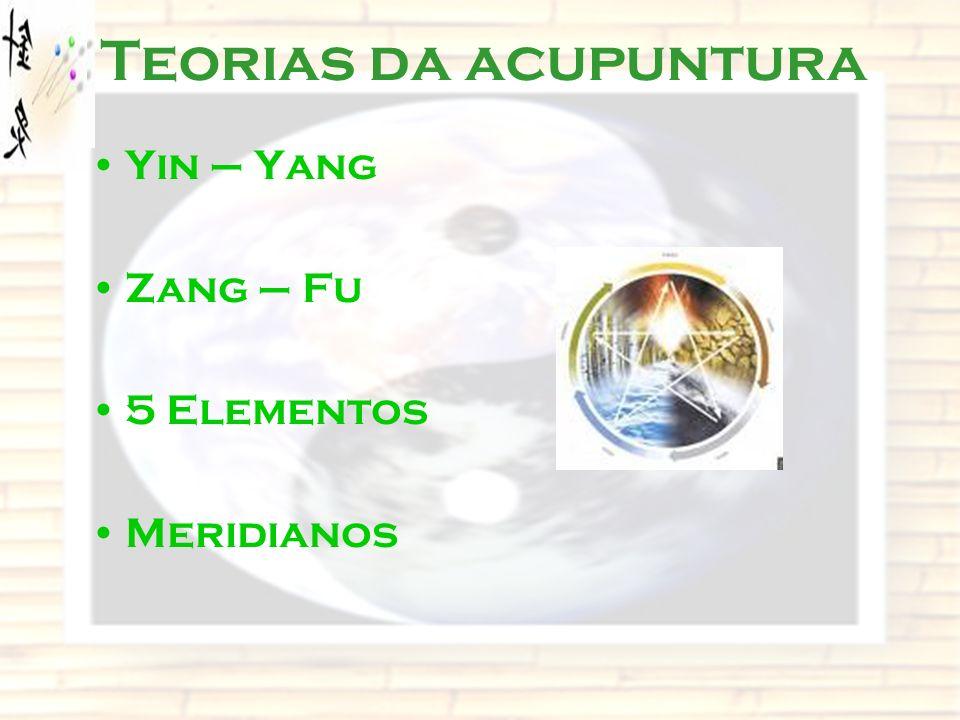 Teorias da acupuntura Yin – Yang Zang – Fu 5 Elementos Meridianos