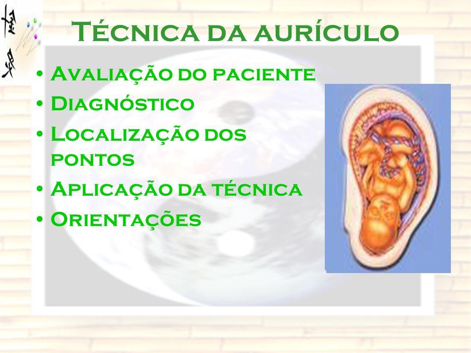 Técnica da aurículo Avaliação do paciente Diagnóstico